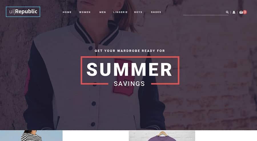 طراحی سایت فروش لباس